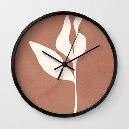 Little Leaves III Wall Clock
