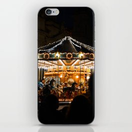 Carousel in Piazza Navona, Rome | Evening light | Travel photography | Italy Art Print iPhone Skin
