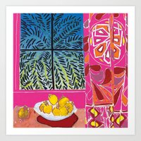 matisse Art Prints featuring Matisse version by bbay