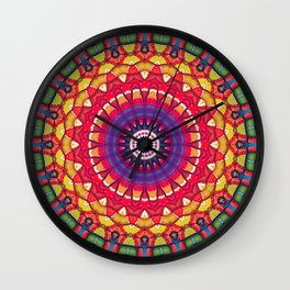 Rainbow Peace Mandala 01 Wall Clock