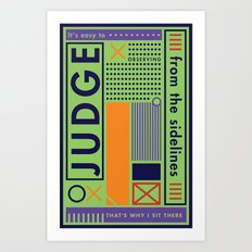 The Judge Art Print