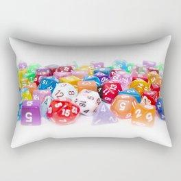 Treasure Trove of Gaming Dice Rectangular Pillow