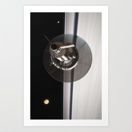 Kronos 1 over Saturn's Rings (2/4) Art Print