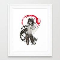 marceline Framed Art Prints featuring Marceline by Mirlolo