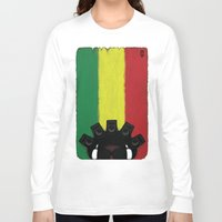 reggae Long Sleeve T-shirts featuring Reggae King by JRV Distorted Works