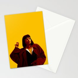 Mia Wallace - Yellow Stationery Cards