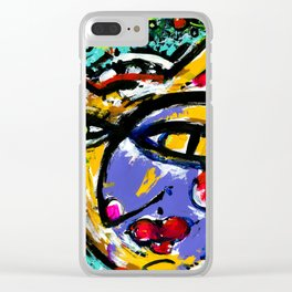 Wiggle Snickle Doodley Doo by Kathy Morton Stanion Clear iPhone Case