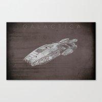 battlestar Canvas Prints featuring Battlestar Galactica BSG minimalist Galactica by depdesigns