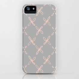 Pink & Gray Abstract Astral Pattern iPhone Case