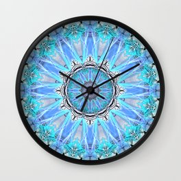 Sapphire Ice Flame, Light Bright Crystal Wheel Wall Clock