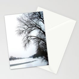 frozen lake. Stationery Cards