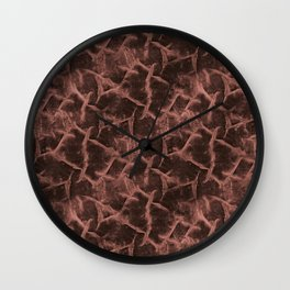 The textured pattern of brown shades. Wall Clock