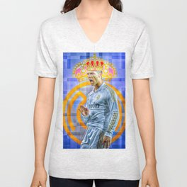 CR7 KING Unisex V-Neck