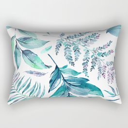 Teal manic botanic Rectangular Pillow