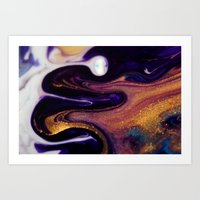 24 Carat Nebula Art Print