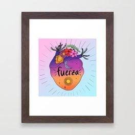 Fuerza Framed Art Print