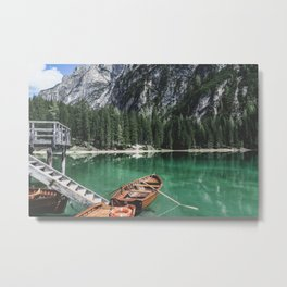 Boats at the Lake // Landscape Photography Metal Print