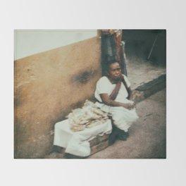Mexican Street Vendor Throw Blanket