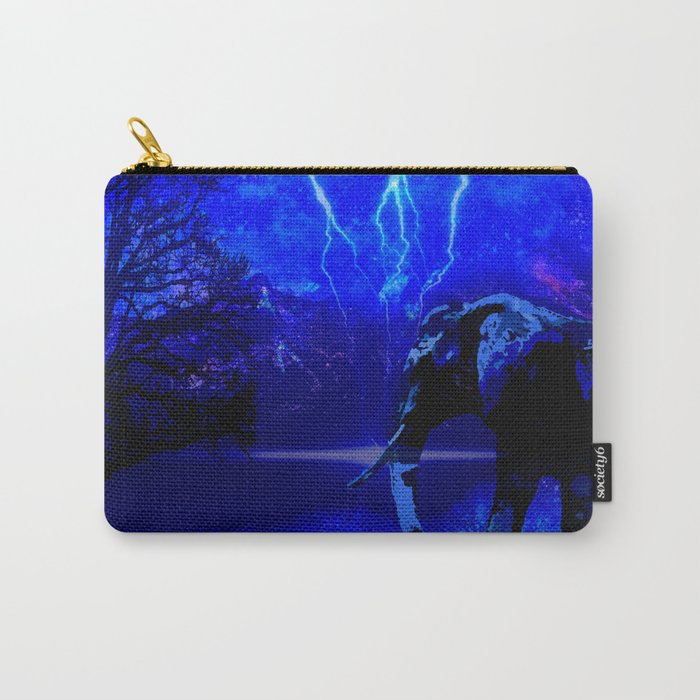 ELEPHANT LIGHTNING AND AFRICAN NIGHTS Carry-All Pouch