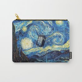 Tardis Starry Night Art Painting Carry-All Pouch
