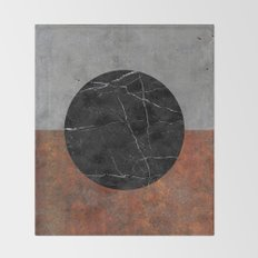 Abstract - Marble, Concrete, Rusted Iron Throw Blanket