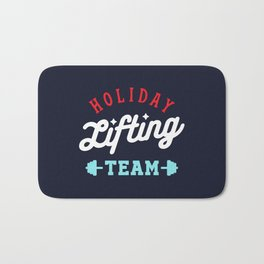 Holiday Lifting Team (Christmas Gym, Workout and Fitness) Bath Mat