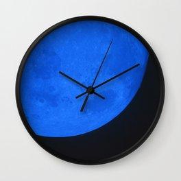 Blue Moon I Wall Clock