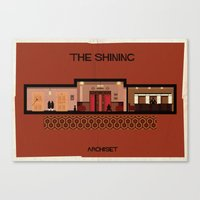 stanley kubrick Canvas Prints featuring The shining_ Directed by Stanley Kubrick by federico babina