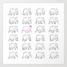The Pink Elephant Art Print