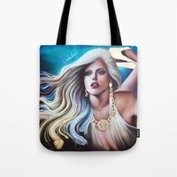 versace Tote Bags featuring VERSACE GODDESS by CARLOSGZZ