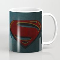 man of steel Mugs featuring Superman - Man of Steel by ochre7