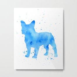 Frenchie splatter Metal Print