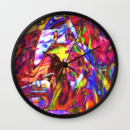 Fluid Painting  Wall Clock
