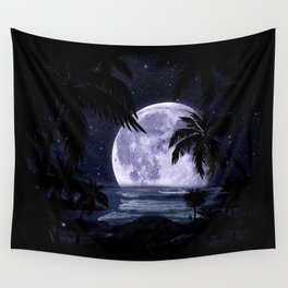 A night at the beach in paradise Wall Tapestry