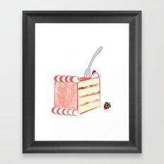 Creative Strawberry Shortcake Framed Art Print