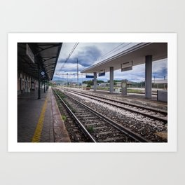 Do Not Cross The Railway Lines Art Print