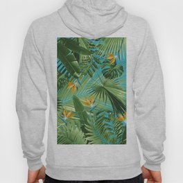Bird of Paradise Jungle Leaves Dream #1 #tropical #decor #art #society6 Hoody