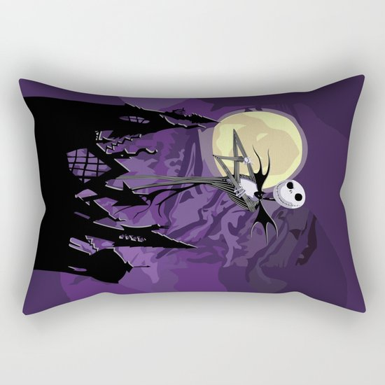 Halloween Purple Sky with jack skellington iPhone 4 4s 5 5c, ipod, ipad, pillow case tshirt and mugs Rectangular Pillow