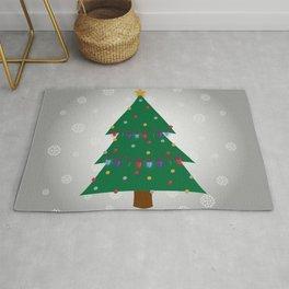 Christmas Tree - Silver Rug