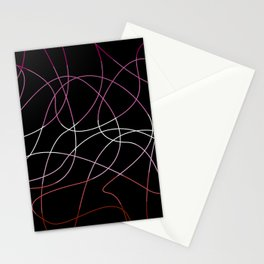 Abstract Threads – Lesbian Pride Flag Stationery Cards