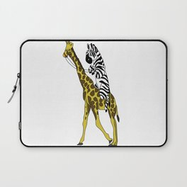 Zebra riding a Giraffe Laptop Sleeve