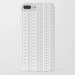 White and gray boho pattern iPhone Case
