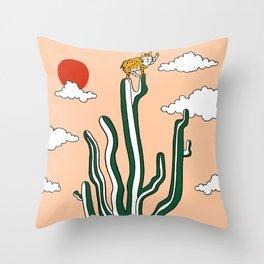 King of the Cactus Throw Pillow