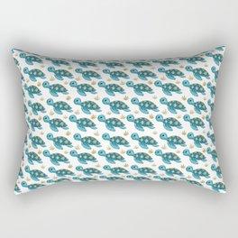 Cute Turquoise Sea Turtle Rectangular Pillow