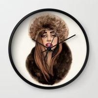 russian Wall Clocks featuring Russian Princess by Helen Green