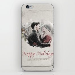 OUAT HAPPY HOLIDAYS // Captain Swan iPhone Skin