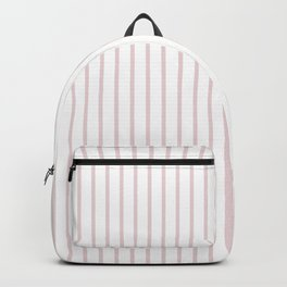 Alice Pink Pinstripe on White Backpack