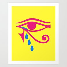Eye of Horus Tears Art Print