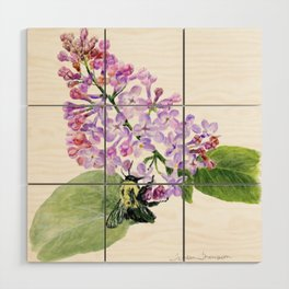 Lilac Love by Teresa Thompson Wood Wall Art