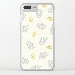 Falling Leaves – Silver & Gold Clear iPhone Case